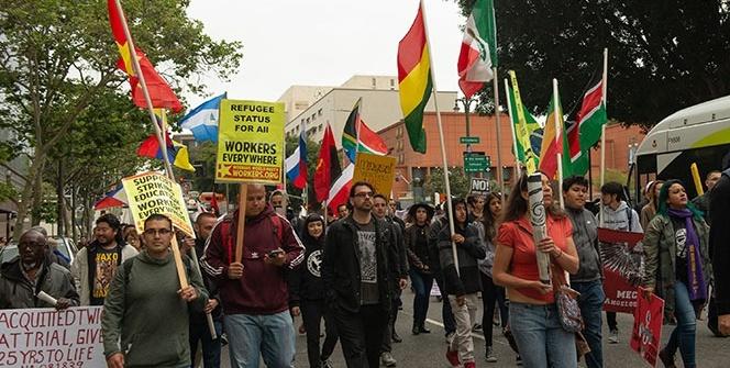 ABD'de 1 Mayıs kutlamalarında Trump protestosu