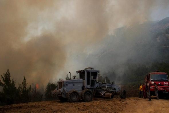 Hatay'daki orman yangınını söndürme çalışmaları devam ediyor