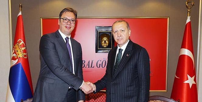 Cumhurbaşkanı Erdoğan, Sırbistan Cumhurbaşkanı Vucic'i resmi törenle karşıladı