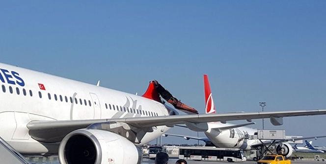 Atatürk Havalimanı'nda uçaklar çarpıştı!