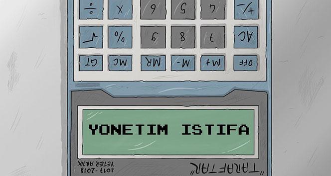 Konyasporda karikatürlü istifa çağrısı