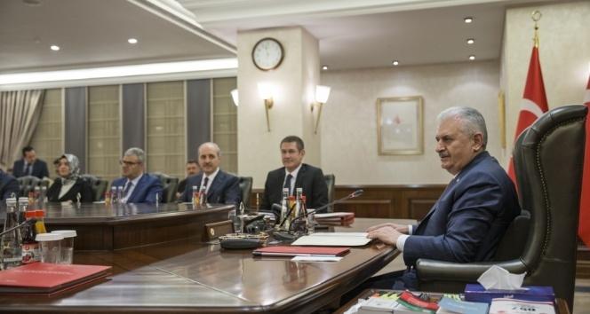Bakanlar Kurulu, Başbakan Yıldırım başkanlığında toplandı!