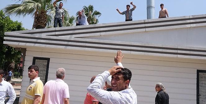 Mersin'de olaylı yıkım