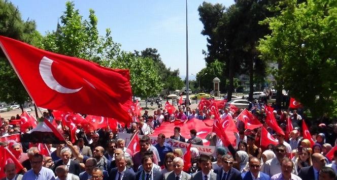 Tekirdağ'da Kudüs protestosu