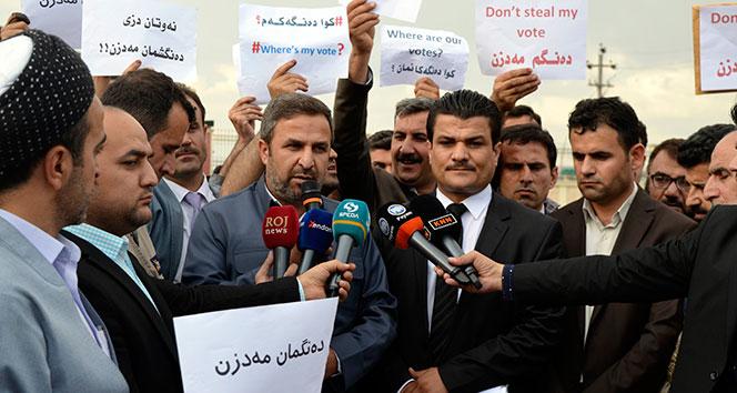 IKBY'de muhalif partilerden protesto