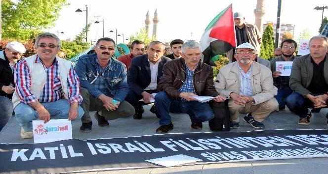 Sivas'ta Filistin için oturma eylemi