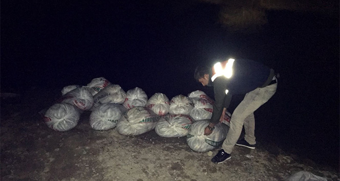 Muradiye'de 2 ton İnci kefali balığı ve 150 metre ağ ele geçirildi