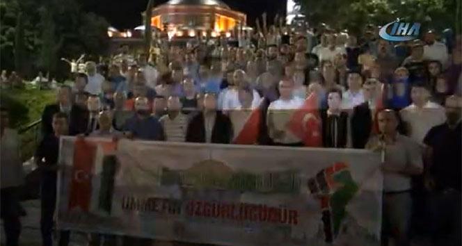 Manisada Filistin protestosu