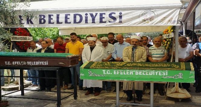 Aydın'da aynı gün vefat eden eğitimciler son yolculuklarına uğurlandı