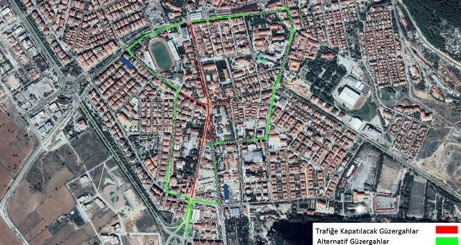 Menteşe'de ana cadde 3 gün trafiğe kapanıyor