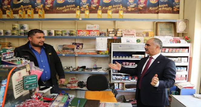 Başkan Aydın mahalle bakkallarına destek verdi