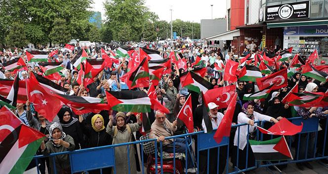 İsraile tepki için herkes tek yürek oldu