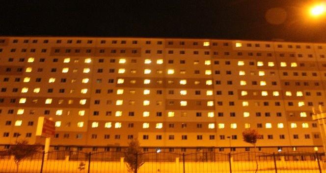 """Öğrenciler yurdun ışıklarıyla """"Kudüs"""" yazdı"""