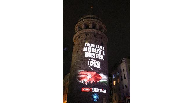 Galata Kulesi'nde video mapping afişi