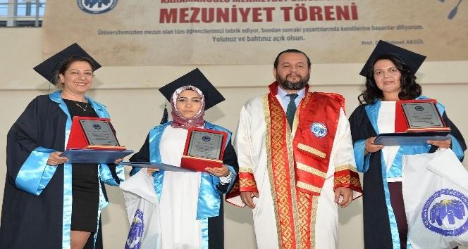 KMÜ Teknik Bilimler MYO'da mezuniyet sevinci
