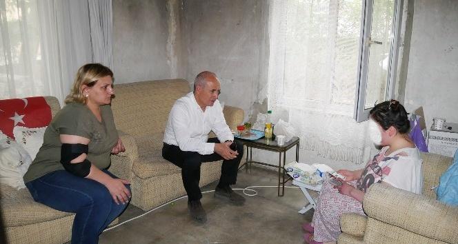 Başkan Akgün, tesadüfen fark ettiği Ilgaz ailesinin umudu oldu