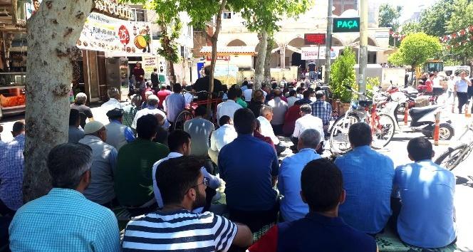 Ramazan Ayının ilk Cuma Namazında cemaat camiye sığmadı