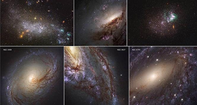 Hubblein çektiği en yakın galaksilerin görüntüleri yayımlandı
