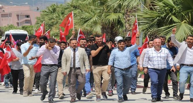 Hatay'da Kudüs'e destek yürüyüşü