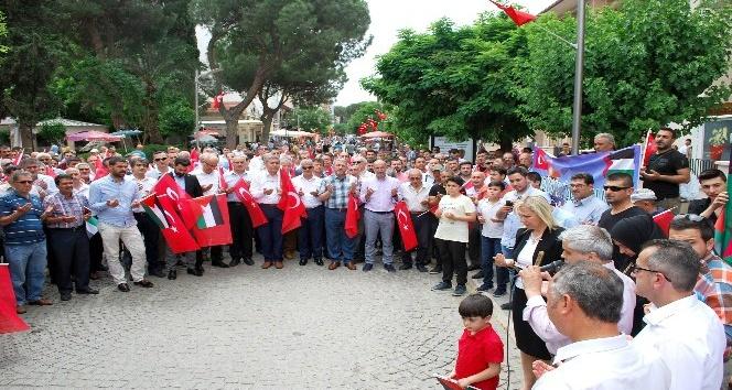 Salihli'de İsrail protestosu