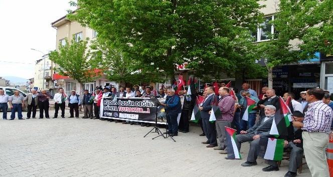 Hisarcık'tan İsrail'e lanet, Filistin'e destek