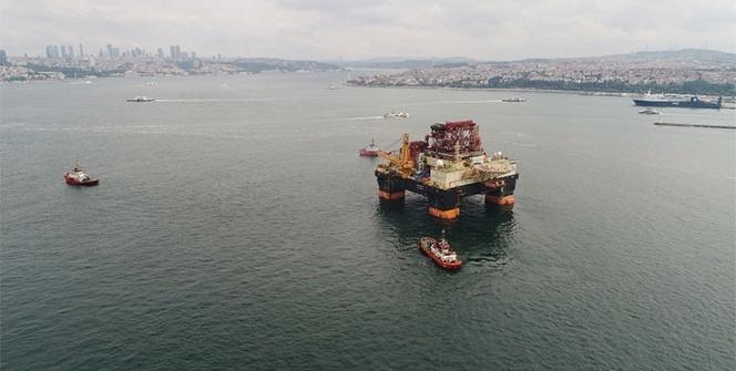 Dev petrol arama platformu havadan görüntülendi