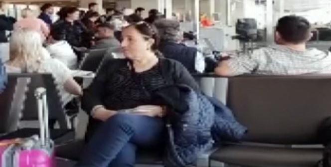 Frankfurt'tan 16 saat gecikme ile İstanbul'a inen yolcular mağdur oldu