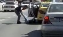 İstanbulda taksici dehşeti kamerada