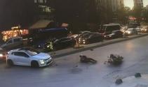 Feci motosiklet kazası kamerada!