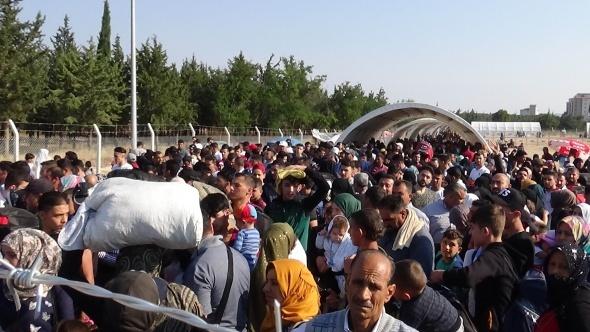 Suriyelilerin vatan özlemi izdihamı
