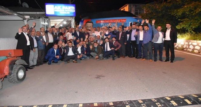 AK Parti Trabzon Milletvekili adayları Cora ve Çebi seçim çalışmalarını sürdürdü