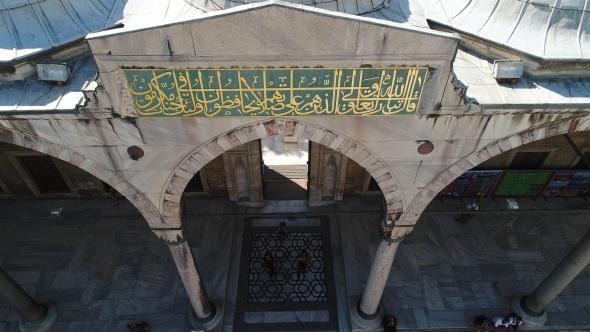 Sultanahmet Cami'nde dev restorasyon havadan görüntülendi