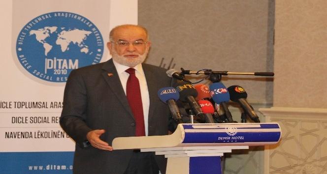 SP'nin Cumhurbaşkanı adayı Karamollaoğlu, Diyarbakır'da