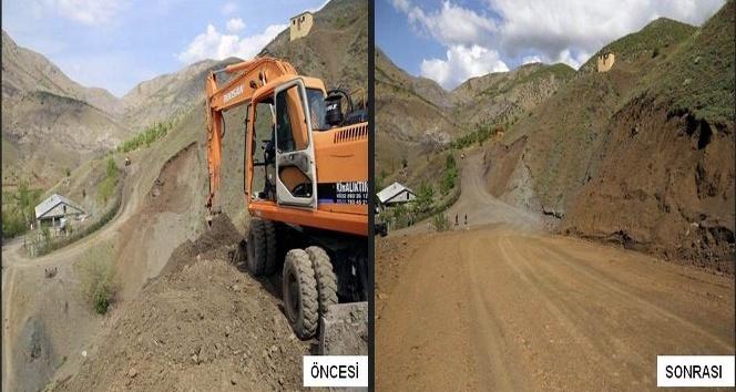 Lice'nin kırsal mahallelerinde yol yapım çalışmaları devam ediyor