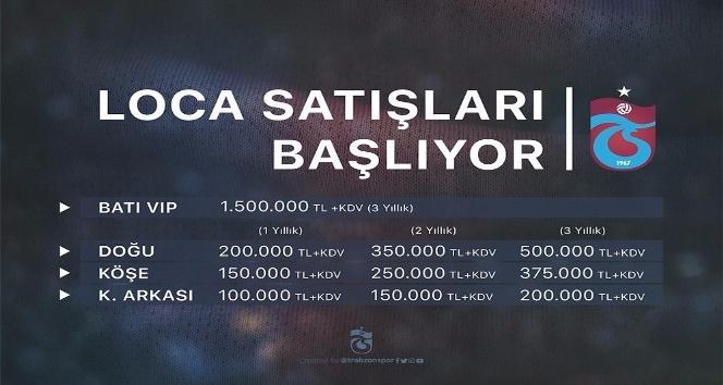 Trabzonspor, loca fiyatlarını TL'ye çevirdi
