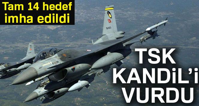 TSK'dan Kandil'e hava harekatı:14 hedef imha edildi