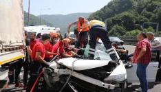 Bolu Dağında feci kaza: 1 ölü, 2 yaralı