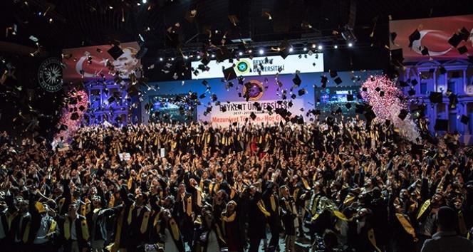 Beykent Üniversitesi'nde mezuniyet sevinci