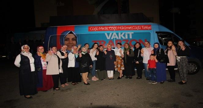 AK Parti milletvekili adayları Trabzon'u arşınlıyor