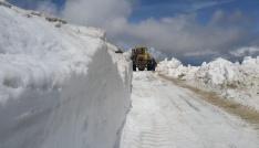 Bayburtta Haziran ayında karla mücadele