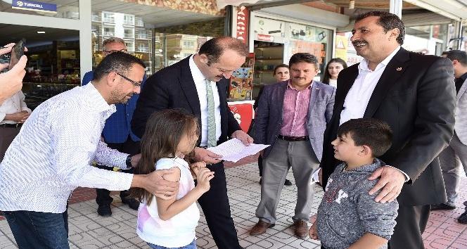 Başkan Akgül'den Başak Mahallesi esnafına ziyaret