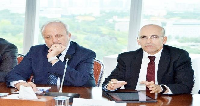 Başbakan Yardımcısı Şimşek, ASO'da OSB başkanlarıyla bir araya geldi