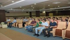 KMÜde işçi kadrosuna geçen güvenlikçilere sosyal hakları anlatıldı