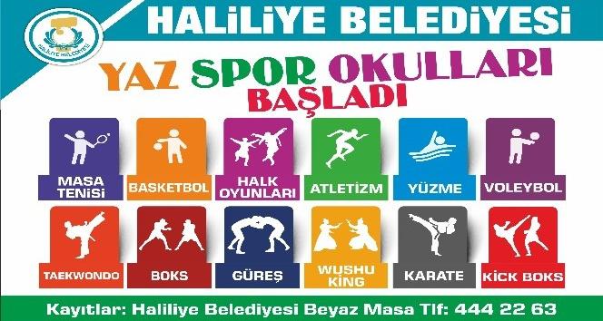 Haliliye'de yaz spor okulları başlıyor