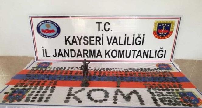 Kayseri'de 507 adet sikke ele geçirildi