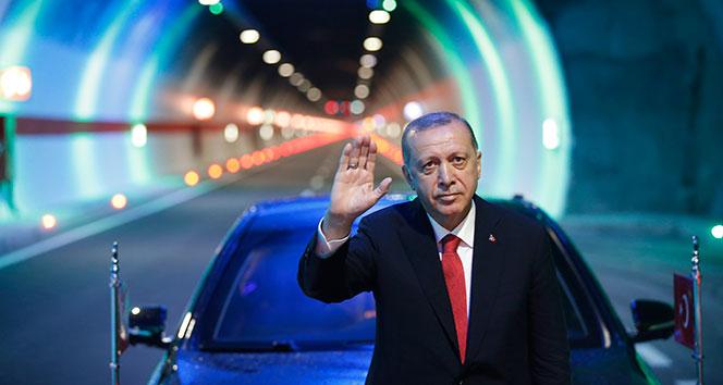 Cumhurbaşkanı Erdoğan Ovit Tüneli'nin resmi açılışını gerçekleştirdi