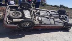Yozgatta otomobil şarampole devrildi: 6 yaralı