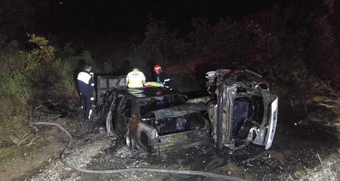 Tuncelide kaza sonrası iki araç yandı, 4 kişi yaralandı