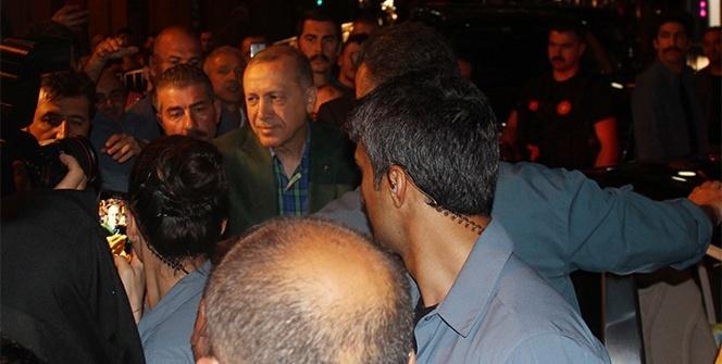 Cumhurbaşkanı Recep Tayyip Erdoğan baba ocağından sevgi seli ile uğurlandı