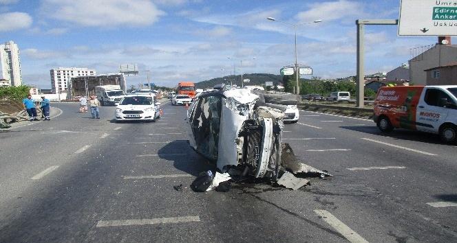 (Özel) Şile yolunda kaza: 2 yaralı